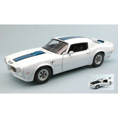 Welly We2566W Pontiac Firebird Trans Am 1972 White W/blue Stripes 1:18 Die Cast