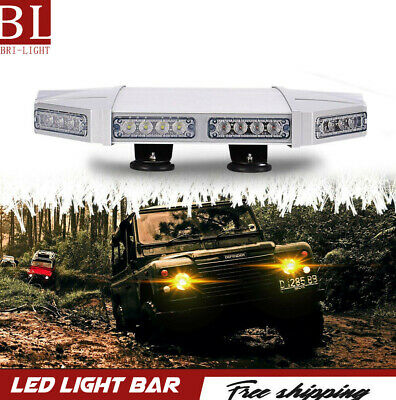 Roof Emergency Warning Security Strobe Light Bar Low Profile Base for Snow Plow