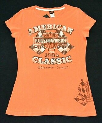 Discounted Harley-Davidson Women's Blouse Various Great Styles in Citrus Colors