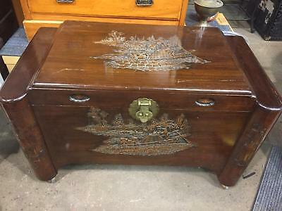 Large Oriental Camphor Box - Asian - Storage Box - Blanket Box