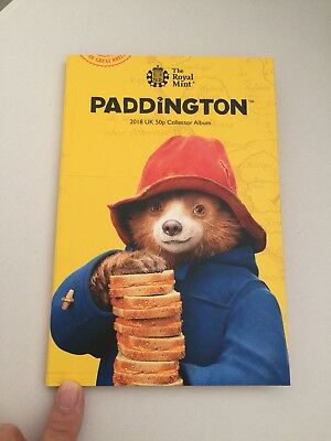 2018 Paddington Bear  Fifty pence Collector Album At Station & At Place 50p