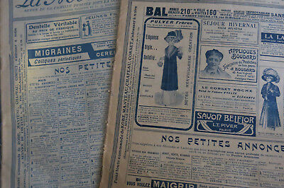 2 x La Mode Pratique 1909 and 1913 French Fashion Magazines