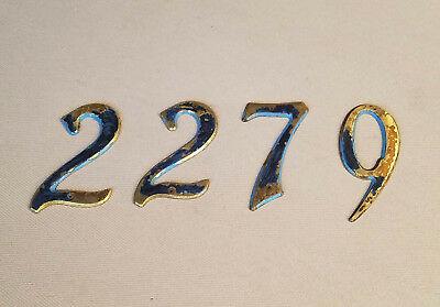 Vintage Lot of Brass Hotel Room House Apartment Street Room Numbers