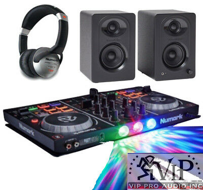 Numark Party Mix DJ Controller Virtual DJ LE Software + DJ Headphones + Speakers