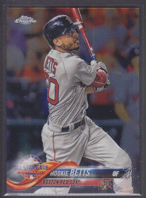 Topps - Chrome Update 2018 - Base HMT68 Mookie Betts - Boston Red Sox