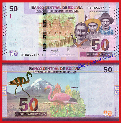 BOLIVIA 50 Bolivianos 2018 NEW DESIGN Pick New  SC / UNC