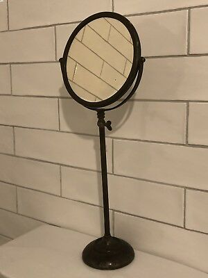 Antique Edwardian Bronze Copper Swing Tilt Vanity Dressing Table Mirror Art Deco