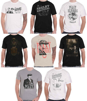 Official Peaky Blinders T Shirt Tommy Garrison TV Show Logo By Order new Mens