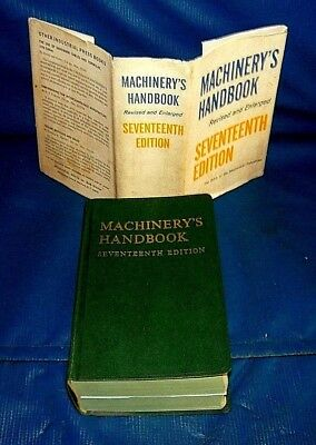 VINTAGE 1966, 17th EDITION MACHINERY'S HANDBOOK with Thumb index & Dust Cover