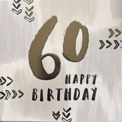 60th Birthday 60 Years Old Greeting Card By Hotchpotch