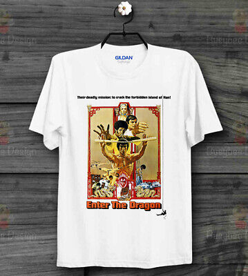Bruce Lee Enter The Dragon Poster Ideal Gift Cool Unisex T Shirt B420