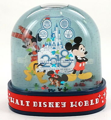 "New Disney Parks 2018 Walt Disney World Mickey Minnie Pluto 4"" Snowglobe"