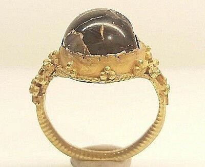 very beautiful antique byzantine gold ring  'unique'