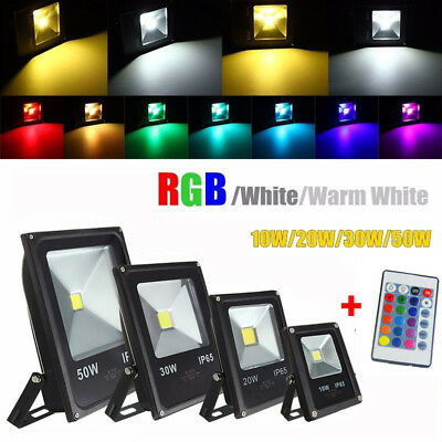 10W 20W 30W 50W 70W RGB Warm White LED Flood Light Outdoor Garden Security Lamp