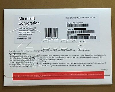 Microsoft Windows 7 PRO PROFESSIONAL SP1 32Bit OEM FULL VERSION & Laptop