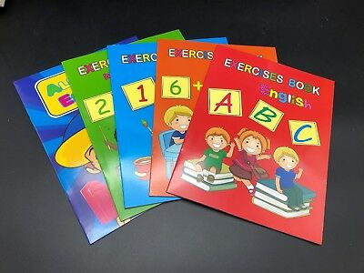 5 X Kids Handwriting Exercise Book English Alphabet Number Maths Educational