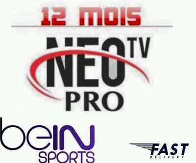 Neo pro2 iptv,12mois abonnement,chaines,Full HD,code m3u,android,mag,vod,ios,Neo