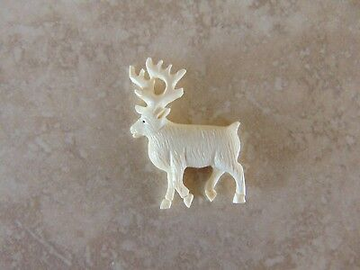 Vintage Native American Reindeer Caribou Fetish Hand Carved Free Shipping