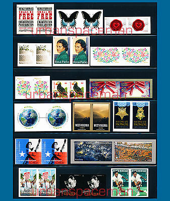 2013 Imperf Year Set Pairs incl Jenny Global Cars Eid Apples Puffin Charles Cash