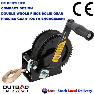 2000 LBS Hand Winch Solid Precise Double Gear Structure Professional Taiwan Made