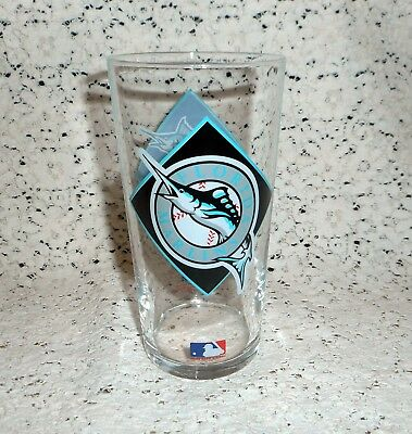 Vintage 1994 Florida Marlins Texaco® MLB Baseball Glass Tumbler