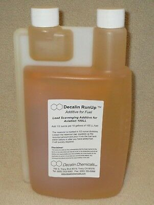Decalin RunUp ~ Lead Scavenging Additive for Aviation 100LL - 32 oz