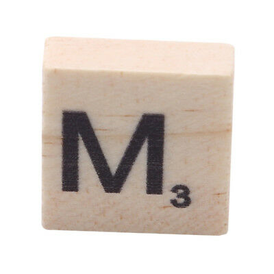 100Pcs Wooden Alphabet Scrabble Letters Numbers Baby Early Learning Cards LG