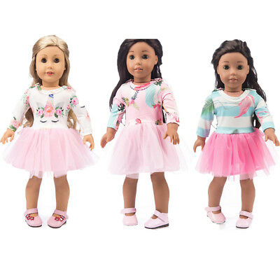 Dress Doll Clothes for Girl Doll Of 18 Inch Doll Accessories Tulle Dress