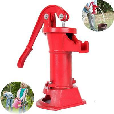 Hand Pump Cast Iron Well Water Pitcher Press Suction Home Yard Ponds Garden 25ft