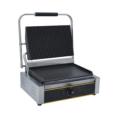 Electric Panini Grill Press Contact Grill Sandwich Toaster Maker BBQ Griddle