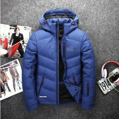 New Under Armour Men's Down Jacket Winter Thick Coat Hooded Warm Puffer Parka