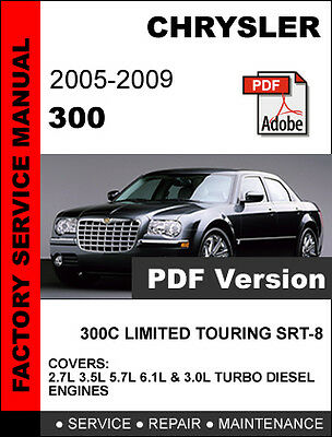 2009 town country by chrysler service manual