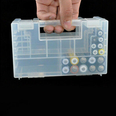 Clear Portable Hard Plastic Battery Case Holder Storage Box For AA AAA Batteries