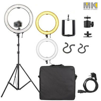"""19"""" 50W LED Dimmable Ring Light Stand Phone Holder Lighting Photo Video Kit"""