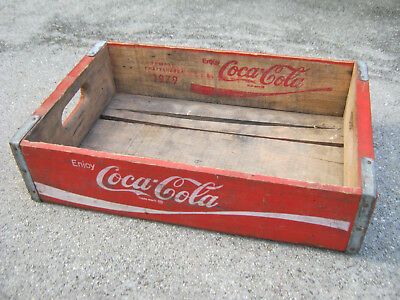 Vintage 1970s Coca Cola Wood Soda Case Coke Crate Caddy Temple/Chattanooga 1979