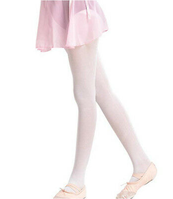 Girls Childrens Full Footed Tights Ballet Dance Stockings