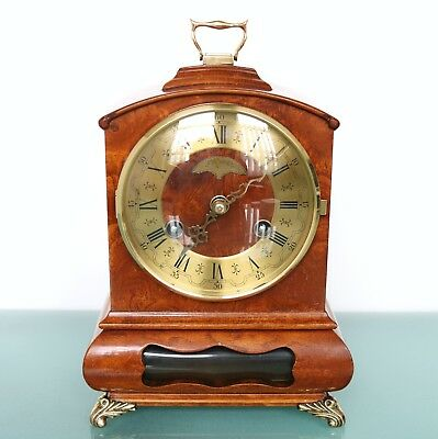 Dutch WARMINK WUBA BIEDEMEIJER Mantel TOP!! Clock Vintage HIGH GLOSS! BELL Chime