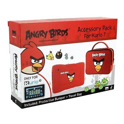 Kurio MERONCOURT Angry Birds Protective Skin Bumper Accessory Pack for 7 - Red