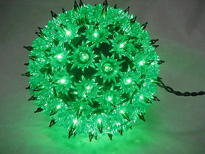 """6"""" Holiday Classics Super Sphere With 100 Green Lights - New W Box"""