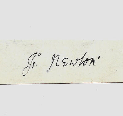 Sir Isaac Newton Autograph Reprint On Genuine Original Period 1680s Paper