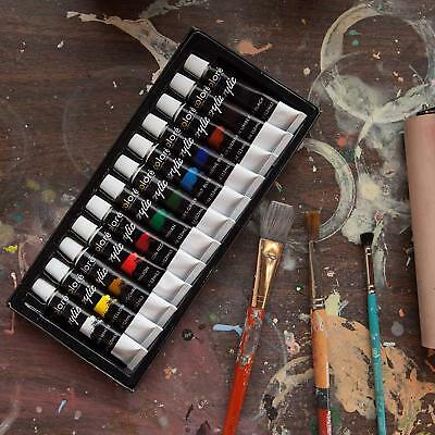 Acrylic Paint Set, Set Of 12 Each tube is filled with 12 mL (0.4 oz) by Colore