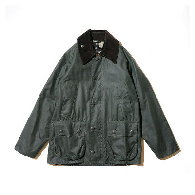 Barbour Bedale Mens Classic Waxed Jacket Sage Size C32/81Cm (Used)
