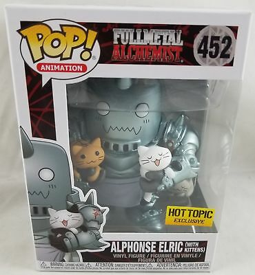 Funko Fullmetal Alchemist Pop! Alphonse Elric (With Kittens) #452 Hot Topic Excl