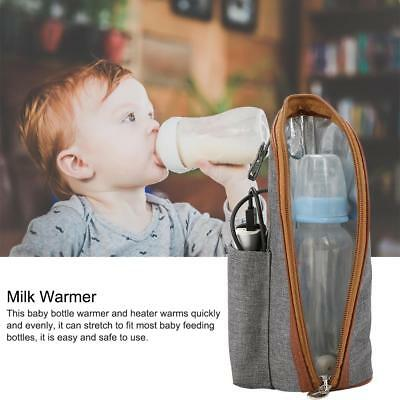 Portable Travel Bottle Warmer Heater Travel Baby Kids Milk Water USB Storage Bag