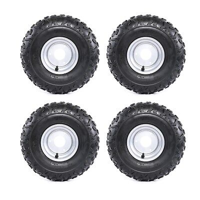 4 Pack 145/70- 6  Wheel Tyre Rim 50/70/90/110/125cc Quad Bike ATV Go Kart Mower