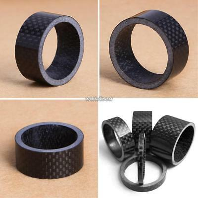 Carbon Fiber 3/5/10/15/20mm Front Fork Spacer Bicycle Headset Washer WST