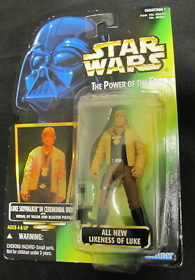 KENNER 1996 Luke Skywalker Action Figure - Star Wars The Power Of The Force NIP