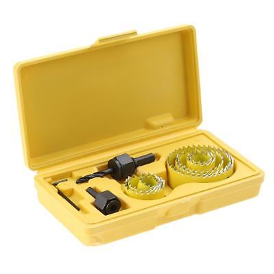 19-64mm Hole Saw Cutter Set Circular Drill Bits Hole Saw for Woodworking Yellow