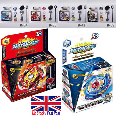 UK Arrival Beyblade Burst Starter B-34 B-35 With Launcher & Grip Xmas gift