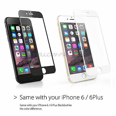 Full Coverage 3D REAL 9H Tempered Glass Screen Protector for iPhone 7/6/6S Plus